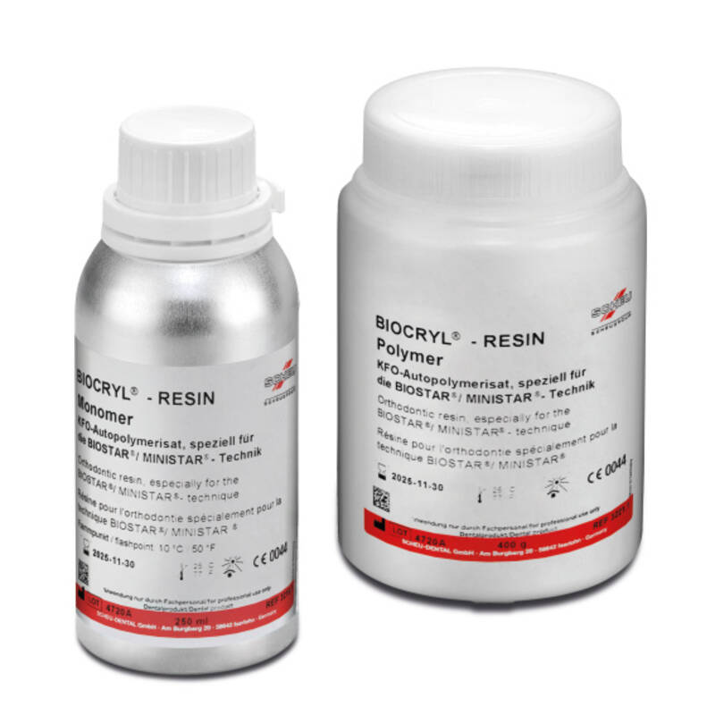 BIOCRYL® RESIN pressure moulding technique, product image, catalogue