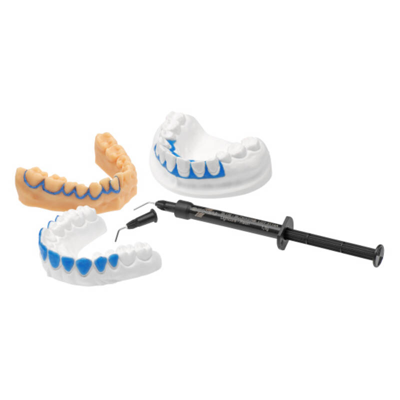 BLUE-BLOKKER® , pressure moulding technique, orthodontics, product image with application, catalogue