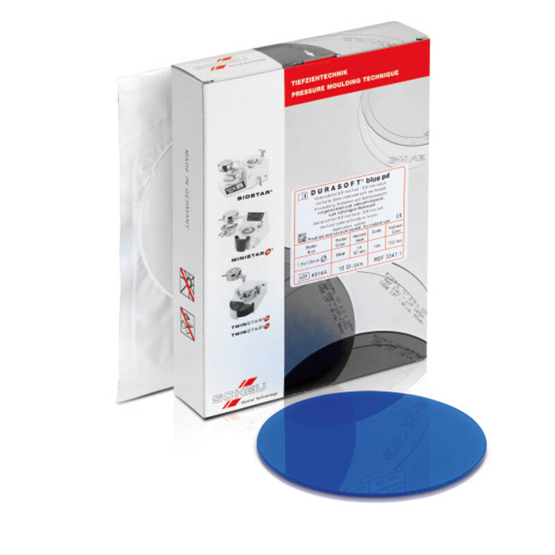 DURASOFT® blue pd, pressure moulding technique, product image, catalogue